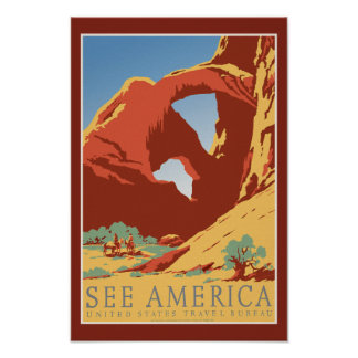 See America - Vintage USA Tourism Poster