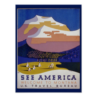 See America  vintage value poster