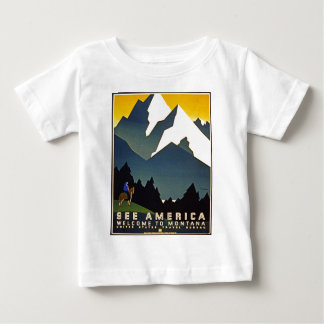 See America - Welcome to Montana Baby T-Shirt
