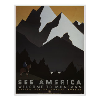 See America: Welcome To Montana Poster