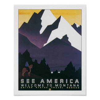 See America - Welcome to Montana Poster