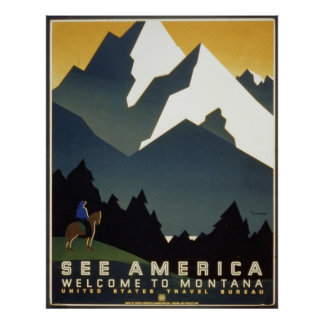 See America Welcome to-Montana Poster