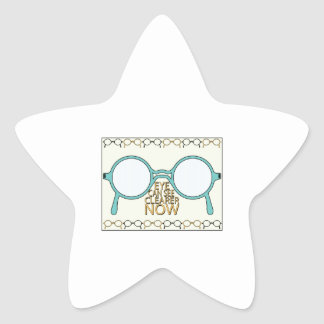 See Clearer Now Star Stickers