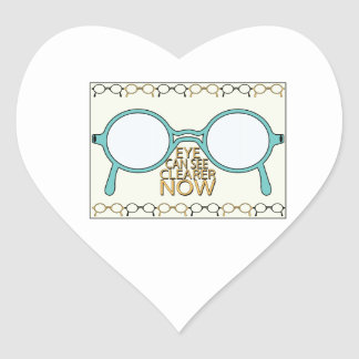 See Clearer Now Heart Stickers