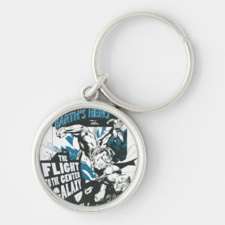 See Earth's Hero Silver-Colored Round Keychain