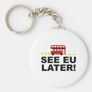 See EU Later Basic Round Button Keychain