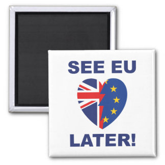 See EU Later Square Magnet
