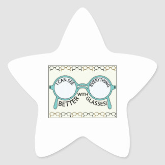 See Everything Better Star Sticker