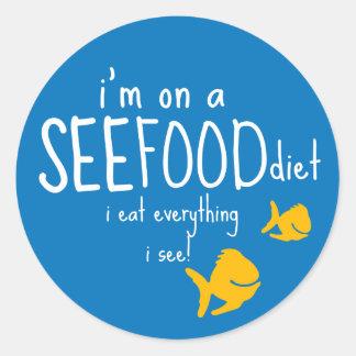 See-food Diet Round Sticker
