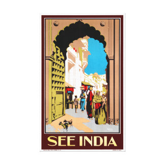 See India Vintage Travel Poster Restored Canvas Print