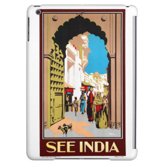 See India Vintage Travel Poster Restored Cover For iPad Air