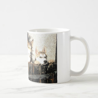 See me peeking !! coffee mug