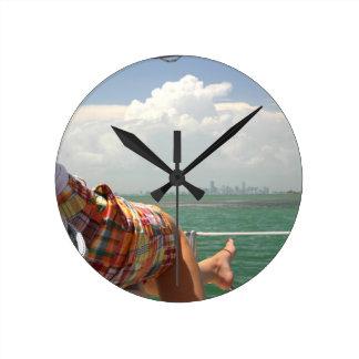 See Miami like a Native Round Clock