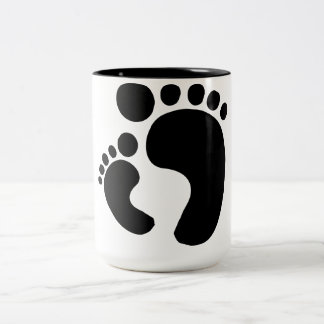 See My Feet Two-Tone Coffee Mug