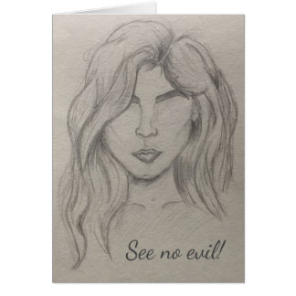 See No Evil Artistic Sketch Card