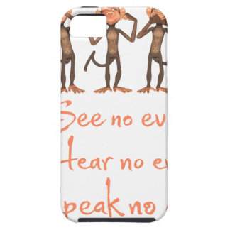 See no evil - hear no evil - speak no evil - case for the iPhone 5