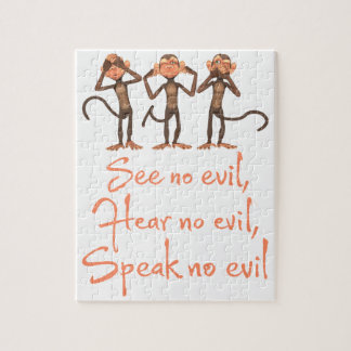 See no evil - hear no evil - speak no evil - jigsaw puzzle