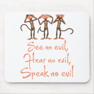 See no evil - hear no evil - speak no evil - mouse pad