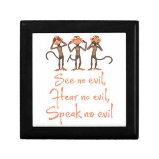 See no evil - hear no evil - speak no evil - trinket boxes