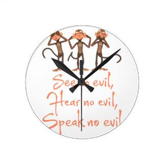 See no evil - hear no evil - speak no evil - wall clock