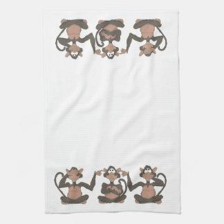 see no evil kitchen towel