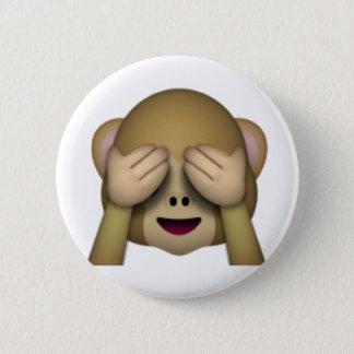 See No Evil Monkey - Emoji 2 Inch Round Button