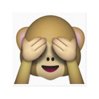 See No Evil Monkey - Emoji Canvas Print