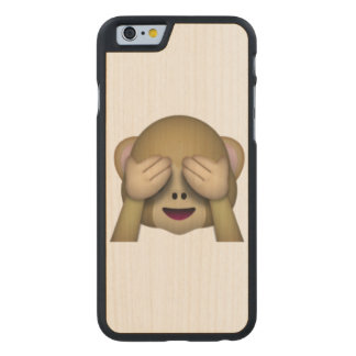 See No Evil Monkey - Emoji Carved Maple iPhone 6 Case