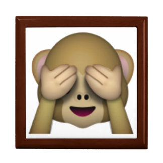 See No Evil Monkey - Emoji Jewelry Box