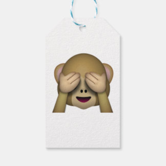 See No Evil Monkey - Emoji Pack Of Gift Tags