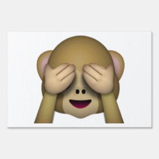 See No Evil Monkey - Emoji Sign
