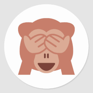 See No Evil Monkey Emoji Stickers