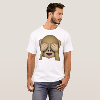 See No Evil Monkey - Emoji T-Shirt