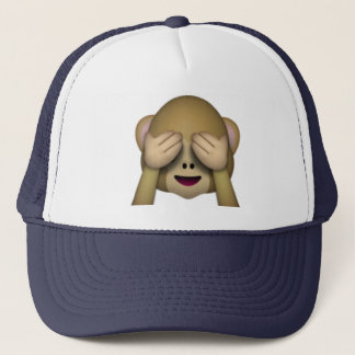 See No Evil Monkey - Emoji Trucker Hat