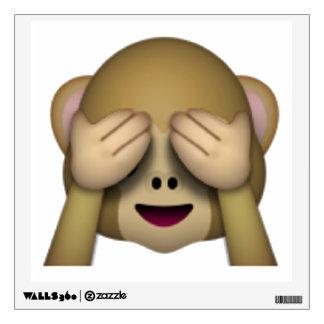 See No Evil Monkey - Emoji Wall Sticker