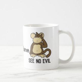See No Evil Monkeys - Personalize Coffee Mug
