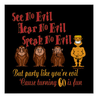 See No Evil Party 60th Perfect Poster