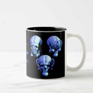 See No, Hear No, Speak No Evil Skulls Mug