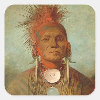See-non-ty-a, an Iowa Medicine Man, 1844 Square Sticker