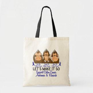 See Speak Hear No Colon Cancer 2 Tote Bag