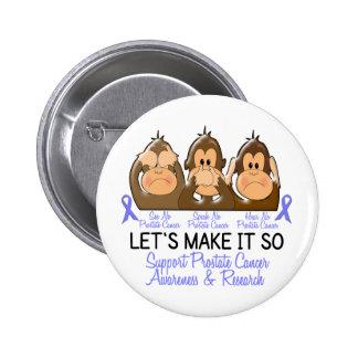 See Speak Hear No Prostate Cancer 2 2 Inch Round Button