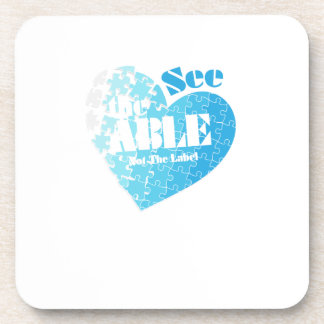 See the Able Not The Label Autism Awareness Gift Coaster