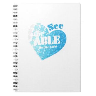 See the Able Not The Label Autism Awareness Gift Notebook