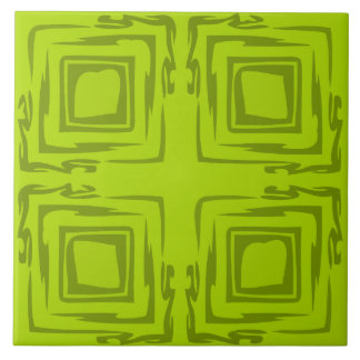See The Forest Abstract Art Decorative Lime Tile