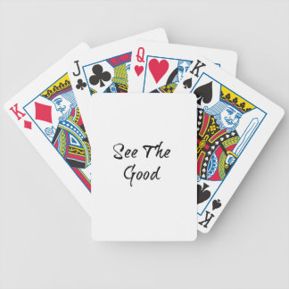 See The Good - Typography - Wisdom Poker Deck
