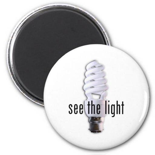 See the Light Fridge Magnets
