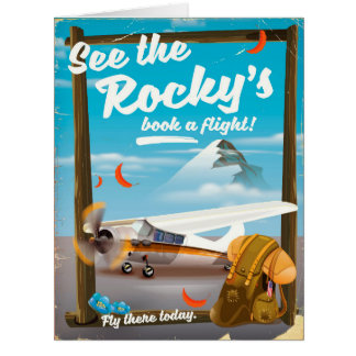"See The Rocky's ""Book a flight!"" Card"