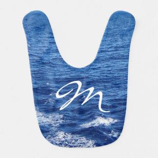 See the Sea Monogrammed Bib