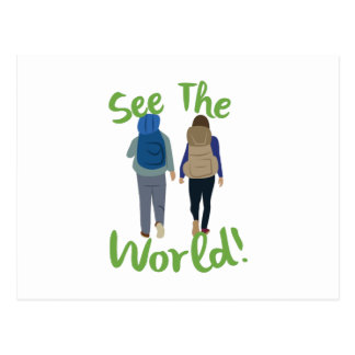 See The World Postcard