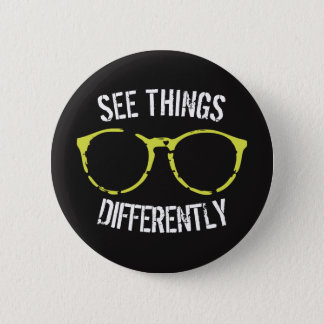 See Things Differently Black & Green Glasses Pin